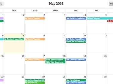 Integrate a Jquery Based Calendar