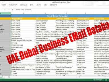 UAE Dubai Business email database