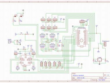 PCB Layout - Board for a robot