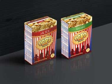 POPZ popcorn package redesign