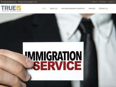 Develop a Immigration services website