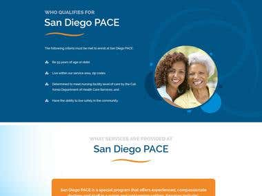 Website design and development for San Diego PACE