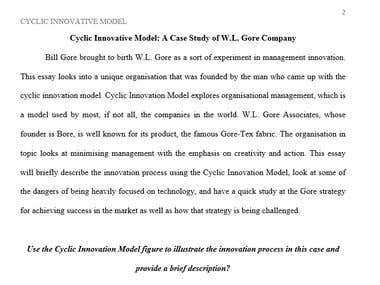 Cyclic Innovation Model