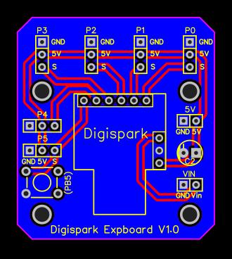 PCB Layout - Digispark expansion board