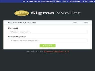 Sigma Coin Wallet App