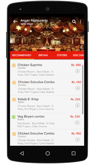 online food ordering based App