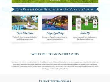 http://www.signdreamers.com/ - Wordpress
