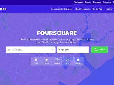 Foursquare - Search Food, Nightlife, Entertainment