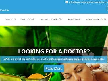 Ayurved Yoga Homeopathy (Web Development)