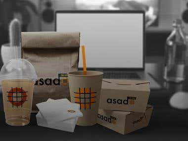 Asado Grill Restaurent Logo Redesign and Packaging