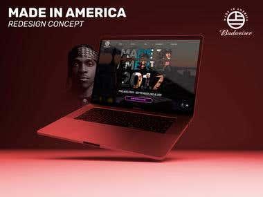 """Redesign promo-site """"MadeInAmerica"""""""