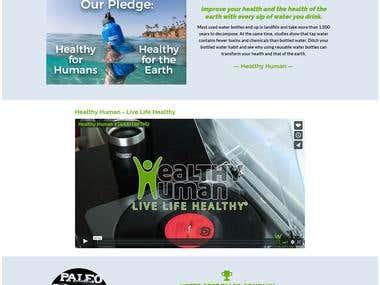 Healthy Human E-commerce (WordPress/Woo-commerce)