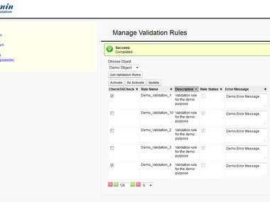 Update multiple validation rules
