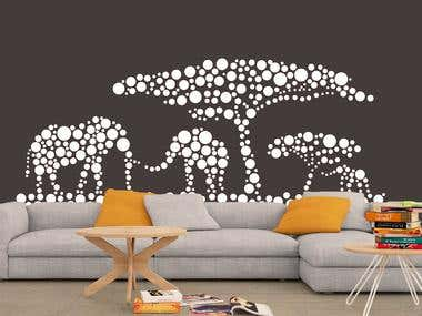 Vinyl wall design