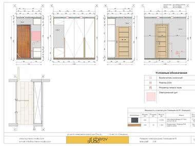 Residential interior design. 2D CAD