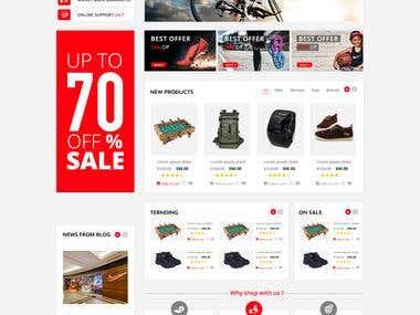 Design an ecommerce Website Mockup