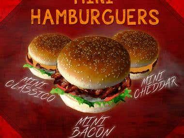 Propaganda para restaurante de Fast Food