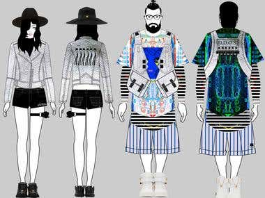 Example of fashion design illustration