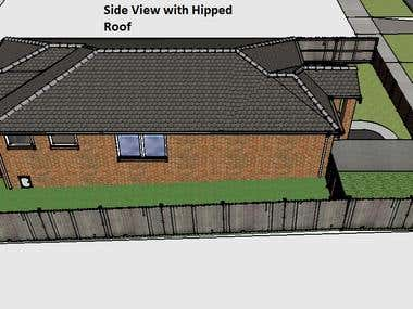 Sketch up Modelling and rendering of an existing house