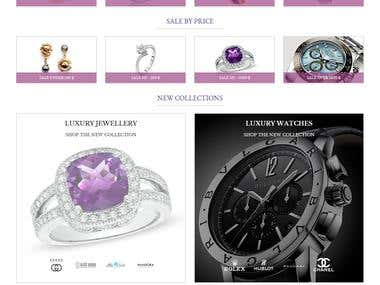 Jewellery shop (e-commerce project)