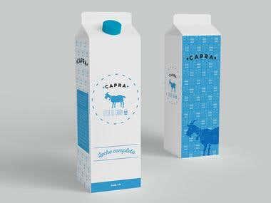 Capra goat milk - Branding