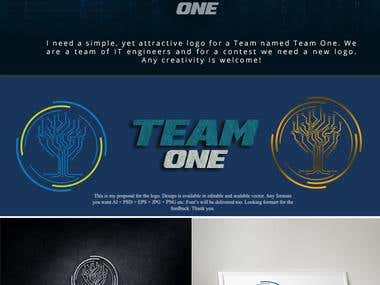 "Logo for comapny ""Team One"""