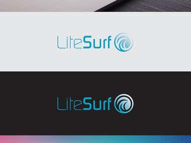 Design a logo for a search engine called lite.surf