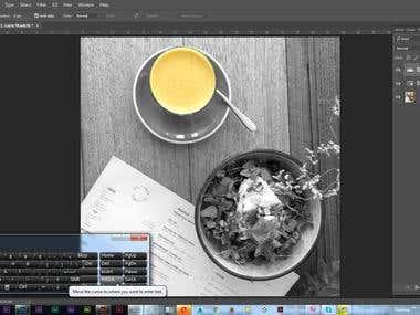 color isolation, colorization