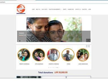 Customize Wordpress site https://donationslanka.lk/