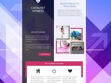 Website design for Catalyst Fitness