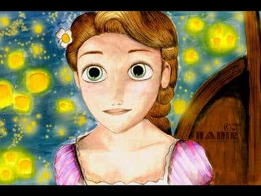 Drawing - Tangled