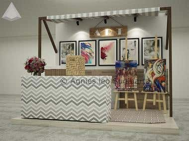1. Booth of Art painting