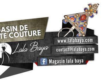 Promotion pour un magasin de robes kabyle