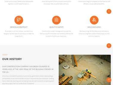 Construction Website Wordpress