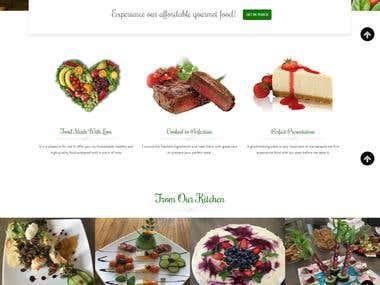 Catering Business Wordpress Website