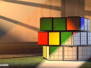 Rubik's Cube (Photorealism)