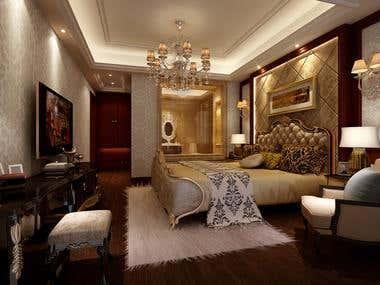 3D Modelling Bed room