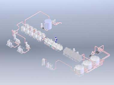 Industrial water treatment plant design
