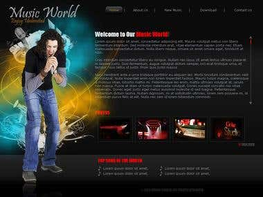 Musical Website