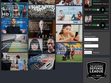 Sitio web en Wordpress con streaming