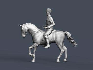 Kemal Ataturk model on horse