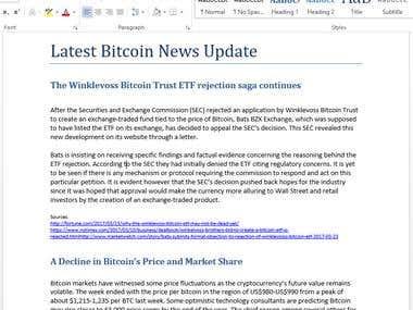 Latest Bitcoin News Update