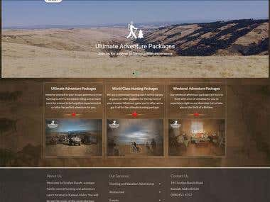 Hunting Website - WordPress