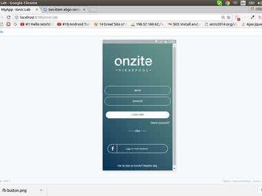 Onzite app - hybrid apps