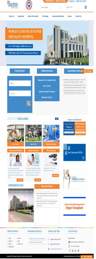 Website URL: http://www.jaypeehealthcare.com/