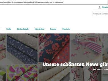 E-Commerce Website [ www.myo-stoffe.de]