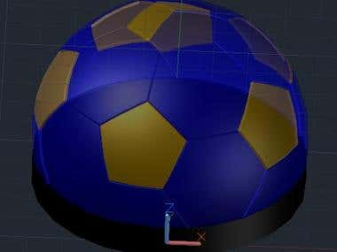 Autocad 3D ball design
