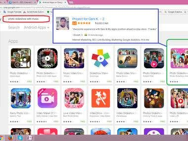 Top First Page App Ranking in Play Store Search Engine..