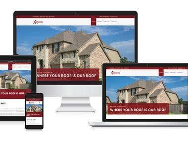 BV Roofing Website design & development