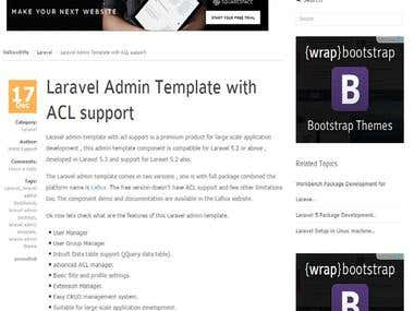 Laravel Admin Template Developing